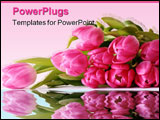 PowerPoint Template - Laying Bouquet of Pink Tulips