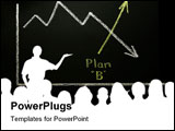 PowerPoint Template - usiness graph showing a downward trend is being replaced by Plan B, which is highlighted by colored