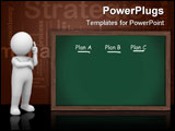 PowerPoint Template - Green chalkboard with plan lists and lots of copy space Making a backup plan