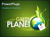 PowerPoint Template - vector illustration with the care of our planet as main topic