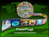 PowerPoint Template - onceptual collage - planet of images. Isolated on white background. All used images was made by mys