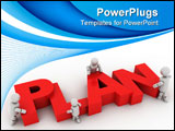 PowerPoint Template - plan team computer generated illustration for design