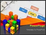 PowerPoint Template - Web design project planning with diagram, html and glasses