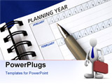 PowerPoint Template - Planning the year on the day planner