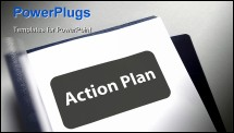 PowerPoint Template - Document title page for the action plan
