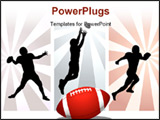 PowerPoint Template - American Football Player - Vector. Easy change colors.