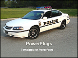PowerPoint Template - a police car standing on a road