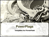PowerPoint Template - handcuffs with keys for law enforcement