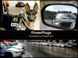 PowerPoint Template - Police images collage.