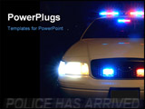 PowerPoint Template - long exposure to capture the full array of police car lights. 12mp camera.