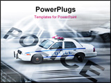 PowerPoint Template - police car in motion blur on the street of new york