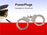 PowerPoint Template - police handcuffs