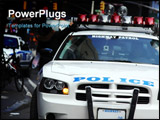 PowerPoint Template - Highway Patrol cruiser in New York City