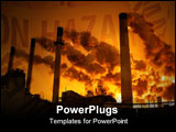 PowerPoint Template - est at small sizes.Coal plant emitting pollution. Burning coal is a leading cause of smog acid rain