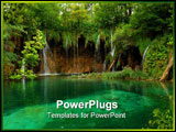 PowerPoint Template - Pond with crystal clear water in Croatia