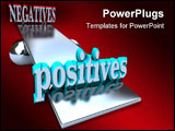PowerPoint Template - The positives outweigh the negatives in this optimistic image