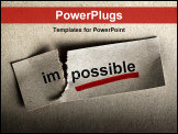 PowerPoint Template - Word impossible transformed into possible. Motivation philosophy concept