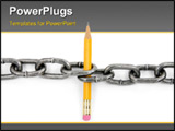 PowerPoint Template - chain and pencil with white background power of knowledge