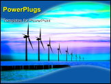 PowerPoint Template - Blue energy power