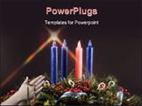 PowerPoint Template - advent candles. fifth candle lit during advent represents the candle of christ!