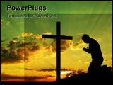 PowerPoint Template - Silouhete of a man making his morning prayer