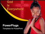 PowerPoint Template - young african american says her prayers