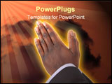 PowerPoint Template - this is an image of businessman with hands in a prayer posture