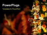 PowerPoint Template - prayer lights at an Indian wedding