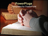 PowerPoint Template - A husband and wife praying together with their Holy Bibles