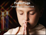PowerPoint Template - child in prayer - horizontal softness added
