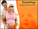 PowerPoint Template - picture of happy couple waiting for baby
