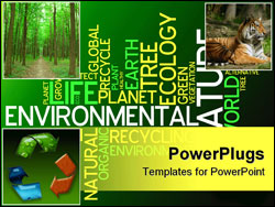 PowerPoint Template - Ecology - environmental poster made from words