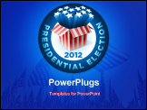 PowerPoint Template - Presidential Election Badge . Exploding American star box. All elements are layered in vector file