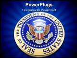 PowerPoint Template - presidential seal u.s. 3d
