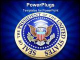 PowerPoint Template - presidential seal u.s. 3d