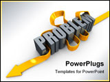 PowerPoint Template - 3d image conceptual problem solving on a white background