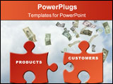 PowerPoint Template - Products and customers puzzle pieces to illustrate offers and needs adequacy