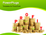 PowerPoint Template - Concept with arrow and coins stylized as chart