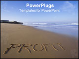 PowerPoint Template - the word profit in the sand on a beach