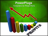 PowerPoint Template - Business success bar graph rendered in 3D