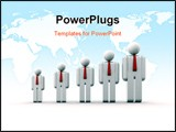 PowerPoint Template - Diagram composed of people icons - growth concept - 3d render