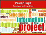 PowerPoint Template - Project Management and Planning as a Background