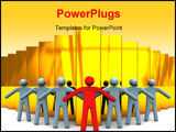 PowerPoint Template - 3d illustration of business team protecting business concept