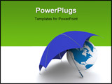 PowerPoint Template - Protection of an environment. Isolated 3D image.