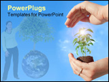 PowerPoint Template - protecting a new plant
