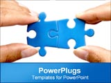 PowerPoint Template - putting two puzzle pieces together