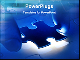 PowerPoint Template - Hands placing last piece of a puzzle