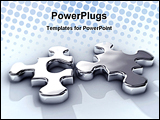 PowerPoint Template - game idea integration jigsaw join liquid match melt metal metaphor mirror