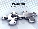 PowerPoint Template - game idea integration jigsaw join liquid match melt metal metaphor mirror