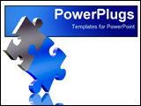 PowerPoint Template - two puzzle pieces balancing